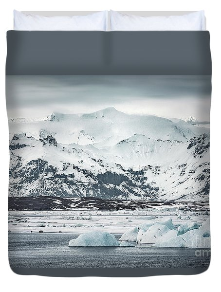 Ice Encounters Duvet Cover