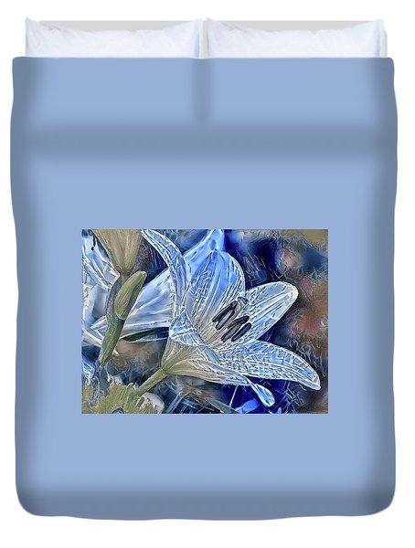 Ice Lily Duvet Cover
