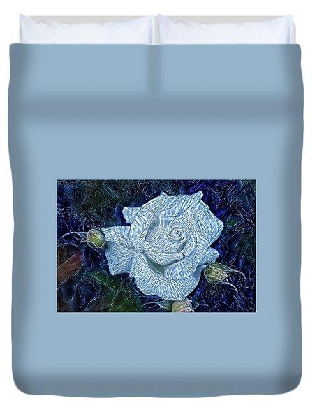 Ice Rose Duvet Cover