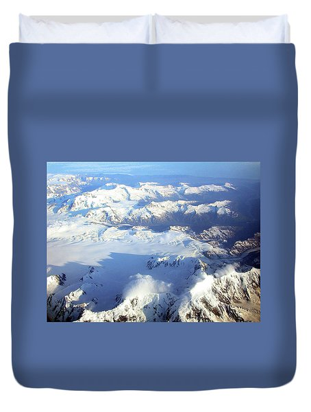 Icebound Mountains Duvet Cover