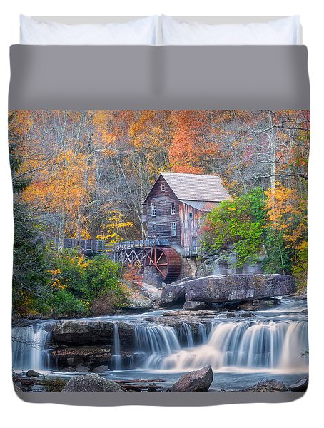Duvet Cover featuring the photograph Iconic by Russell Pugh