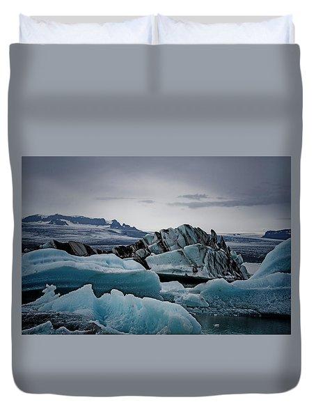 Icy Stegosaurus Duvet Cover