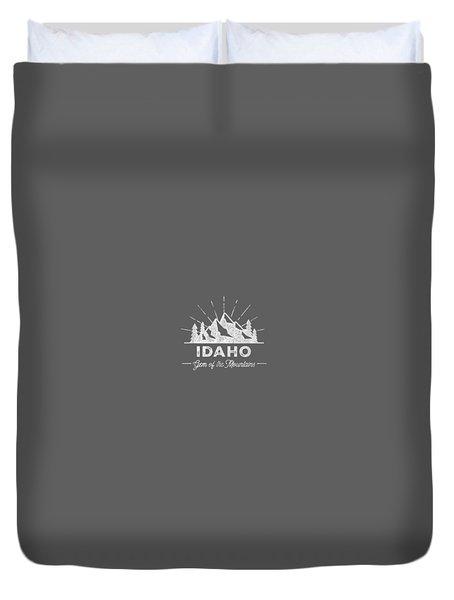 Idaho T Shirt Vintage Hiking Retro Tee Design Duvet Cover