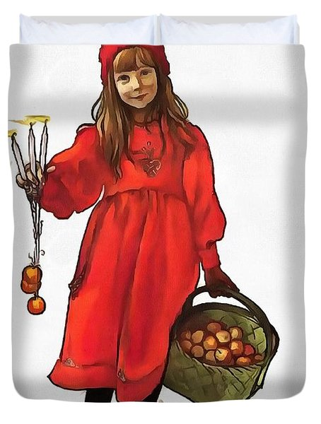 Iduna And Her Magic Apples Duvet Cover