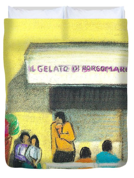 Il Gelato De Borgo Marina Duvet Cover