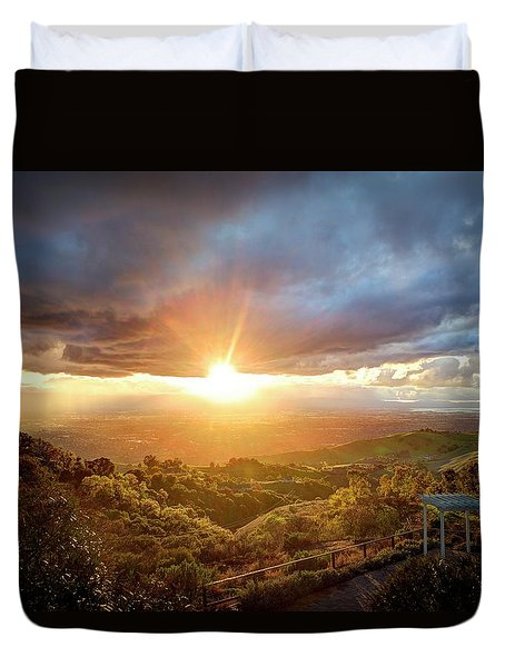 Duvet Cover featuring the photograph I'm Flyin', I'm Flyin' High Like A Bird by Quality HDR Photography