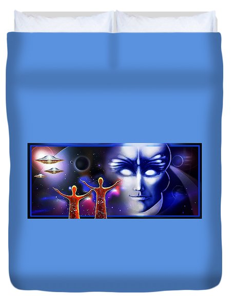 Imagine - What Is Out  There Duvet Cover