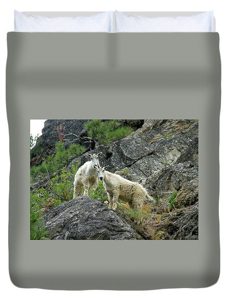 Idaho Mountain Goats Duvet Cover