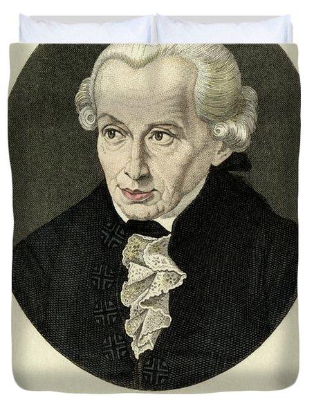 Immanuel Kant, German Prussian Philosopher Duvet Cover