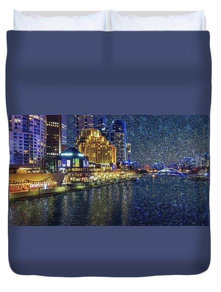 Impression Of Melbourne Duvet Cover