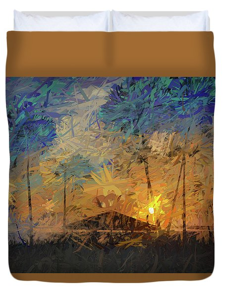 Impressions Of A Beach Sunset Duvet Cover