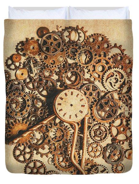 Improvised Time Duvet Cover