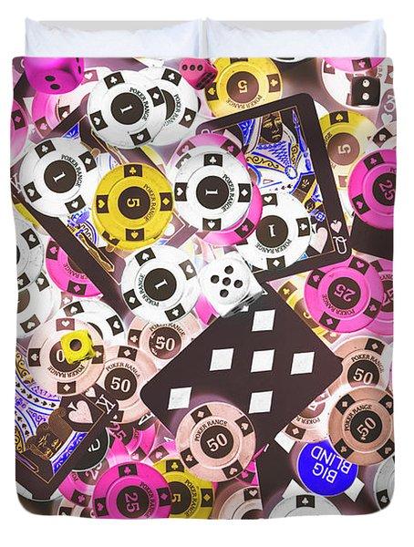 In Casino Colors Duvet Cover