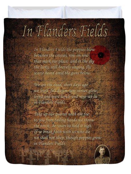 In Flanders Fields 2 Duvet Cover