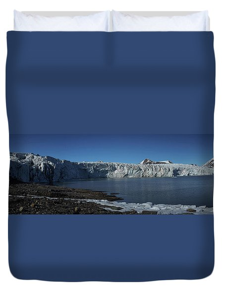 In Front Of A Glacier On Svalbard Duvet Cover