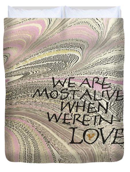 In Love Duvet Cover