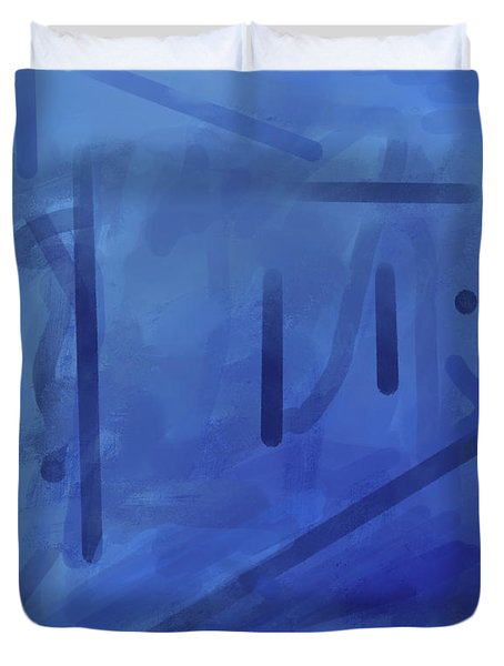 In The Blue Mist Duvet Cover