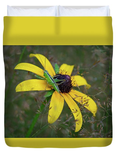 Duvet Cover featuring the photograph In The Meadow by Dale Kincaid
