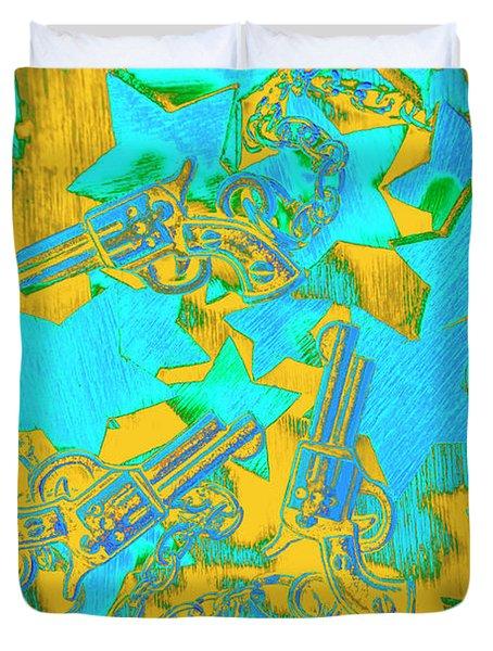 In Wild West Patterns Duvet Cover