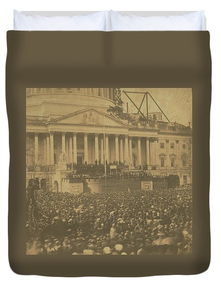 Inauguration Of Abraham Lincoln, March 4, 1861 Duvet Cover