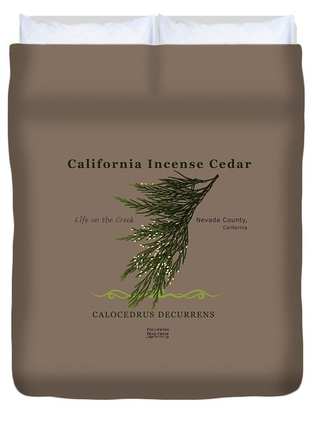Incense Cedar - Brpwn Text Duvet Cover