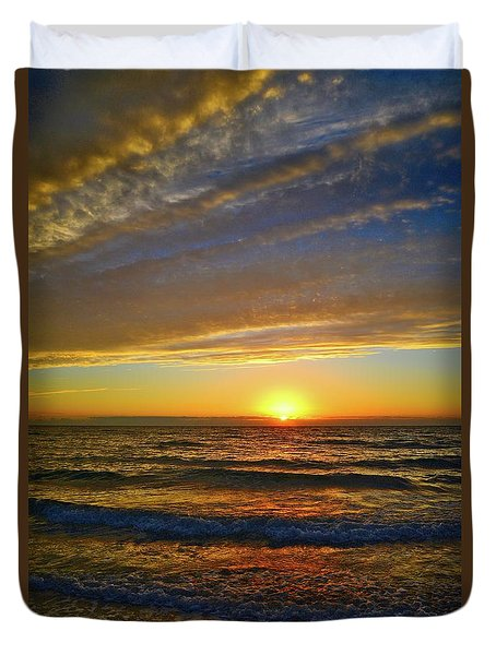 Duvet Cover featuring the photograph Incredible Sunrise Over The Atlantic Ocean by Lynn Bauer