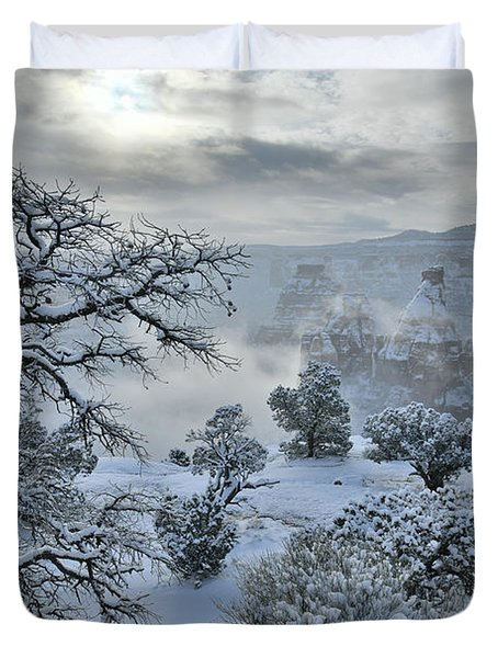 Independence Canyon At Sunrise In Colorado National Monument Duvet Cover
