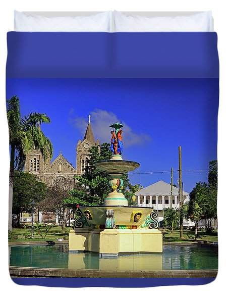 Duvet Cover featuring the photograph Independence Park by Tony Murtagh