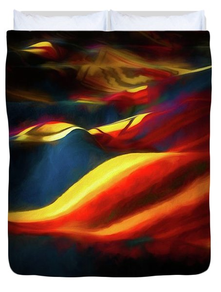 Duvet Cover featuring the photograph Indian Blanket by Jon Burch Photography