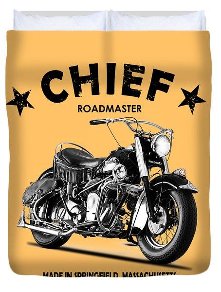 Indian Chief Roadmaster 1953 Duvet Cover
