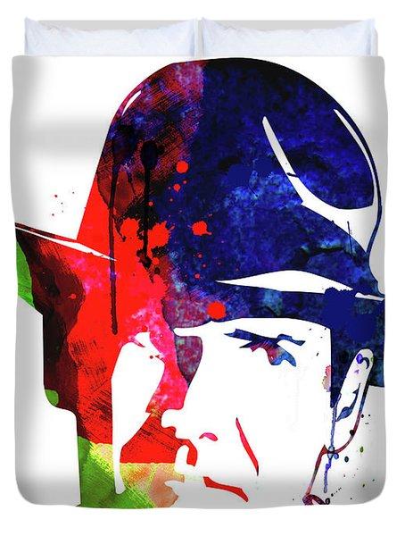 Indiana Jones Watercolor Duvet Cover