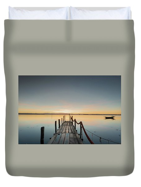 Duvet Cover featuring the photograph Infinity by Bruno Rosa