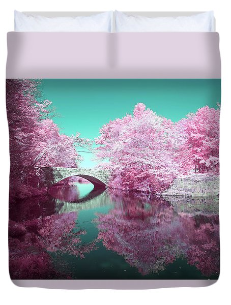 Infrared Bridge Duvet Cover