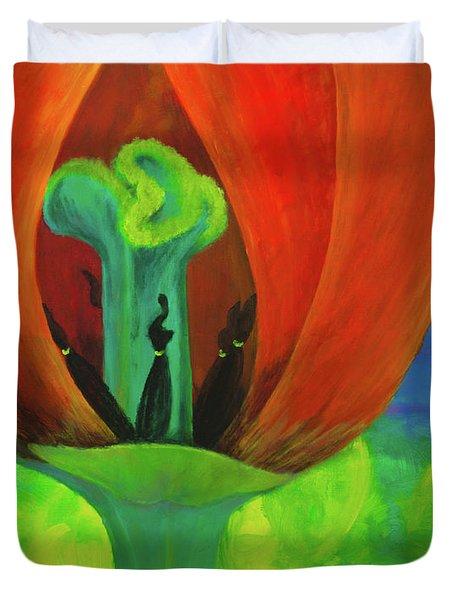 Inner Beauty - The Ritual Duvet Cover