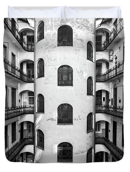 Inner Courtyard In Budapest Duvet Cover