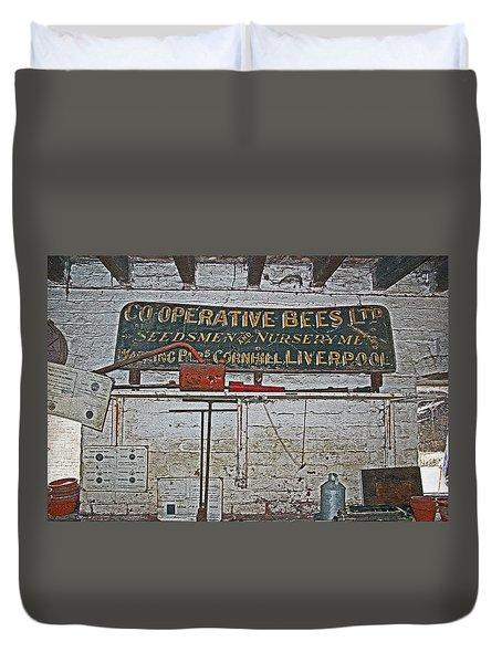 Inside The Man Cave. Duvet Cover