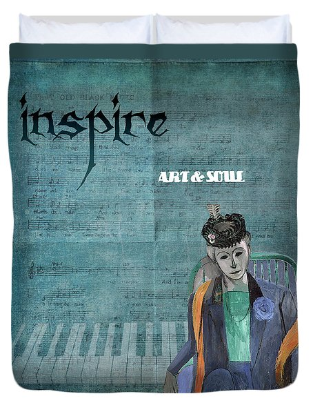 Inspire Art And Soul Duvet Cover