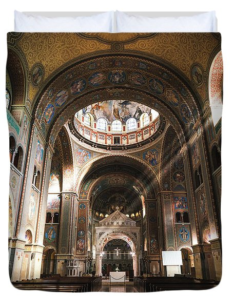 Interior Of The Votive Cathedral, Szeged, Hungary Duvet Cover