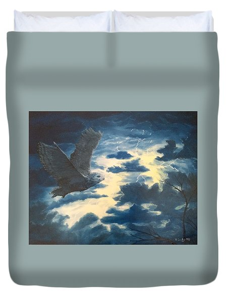 Into The Black Duvet Cover