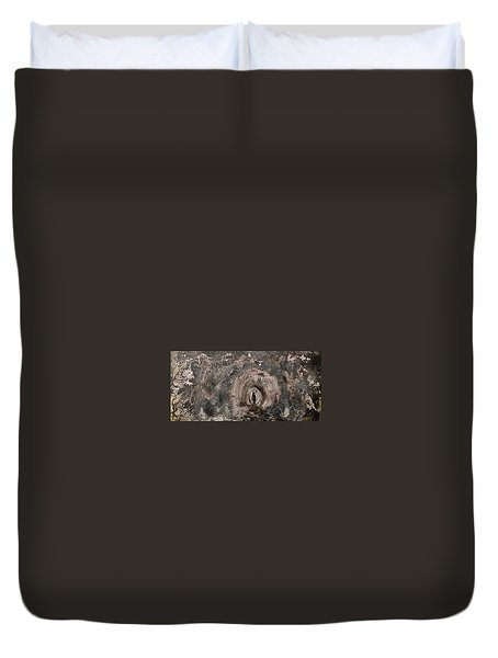 Duvet Cover featuring the painting Into The Fog by 'REA' Gallery
