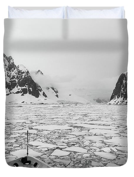 Into The Ice Duvet Cover