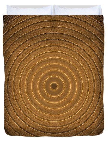Intricate Complex Target Spiral Fractal Duvet Cover