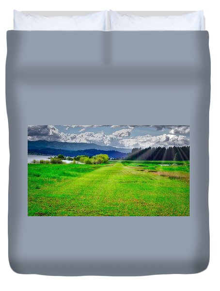 Inviting Airstrip Duvet Cover