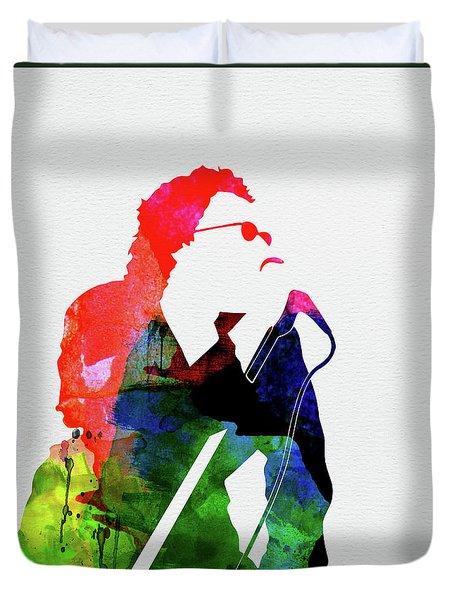 Inxs Watercolor Duvet Cover