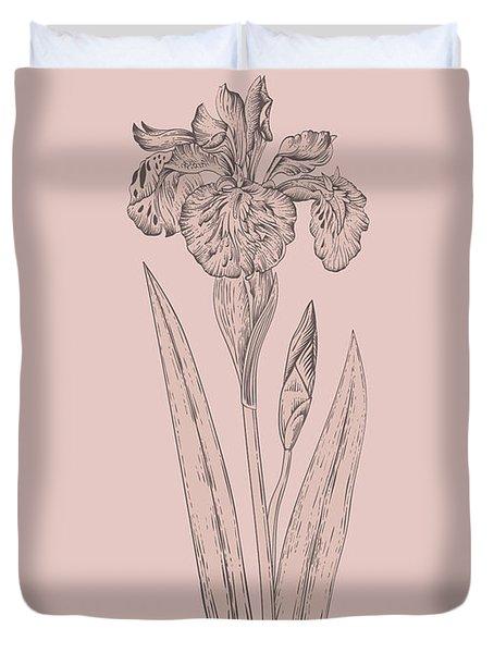 Iris Blush Pink Flower Duvet Cover