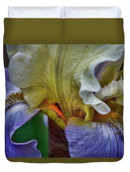 Iris Faith Valor And Wisdom Duvet Cover