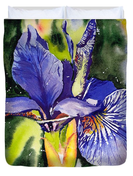 Iris In Bloom Duvet Cover