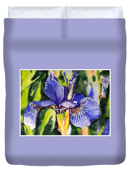 Iris In Bloom Duvet Cover