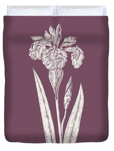 Iris Purple Flower Duvet Cover