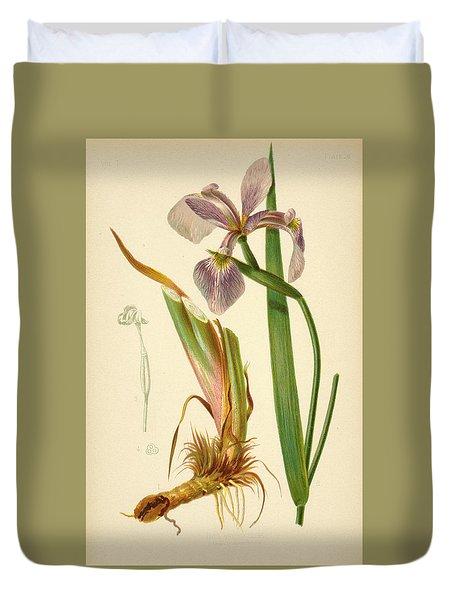 Iris Versicolor Blue Flag Duvet Cover